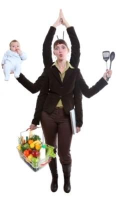 Žena multitasking