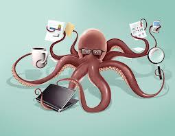 multitasking hobotnica